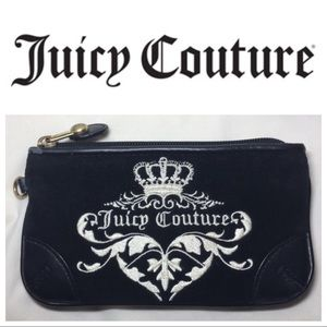 Handbags - EUC Juicy Couture velour and leather wristlet
